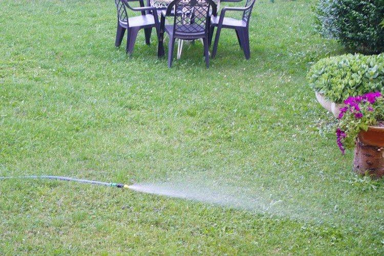 regar jardín en verano - huertoplus
